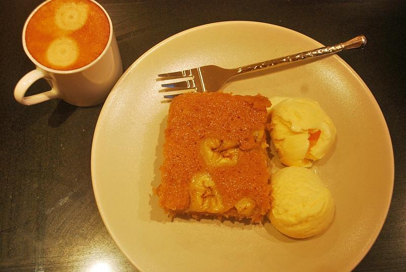 Banana cake and coffee