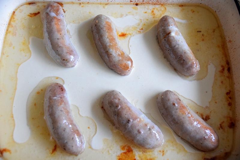 Sausages in batter