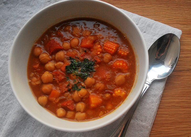 chickpea lentils and chorizo soup