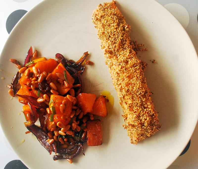 Filet z łososia z dynią piżmową