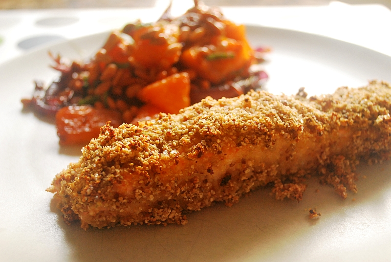 Sweet and hot crusted salmon
