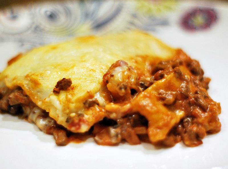 Porcja lasagne