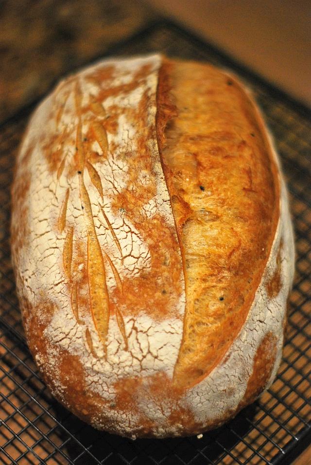 Mediterranean sourdough loaf