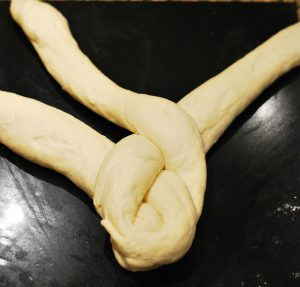 plaiting dough