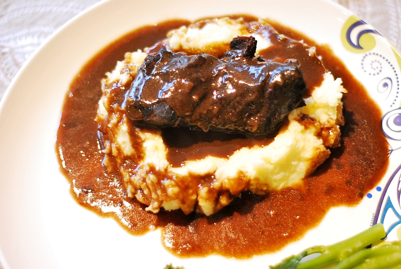 ox cheeks with gravy
