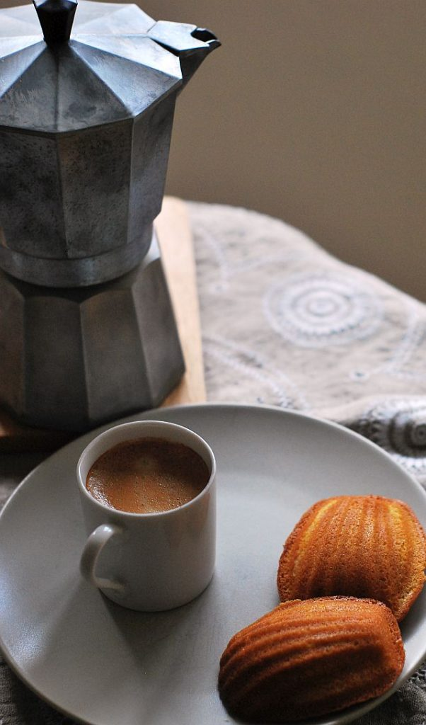 Madeleines and coffee