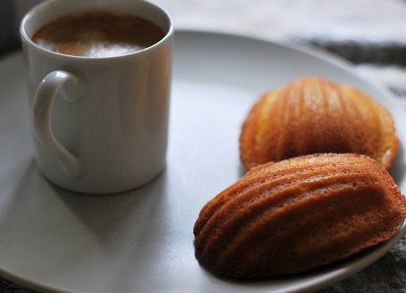 Madeleines and espresso