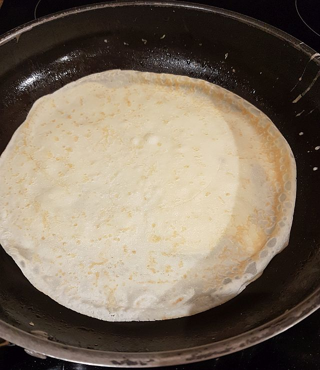Crepe in a pan